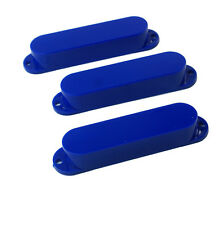 Strat Style Single Coil Guitar Pickup Cover Set ,No holes /Blue