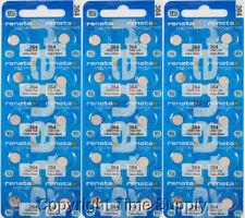 30 pcs 364 Renata Watch Batteries SR621SW FREE SHIP 0% MERCURY