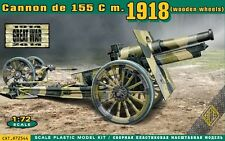 Ace 1/72 Model Kit 72544 Cannon de 155 C m.1918 (wooden wheels)