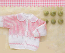 Knitting Pattern- Baby  winter Cardigan in 4ply wool- fits 3-24 months- lovely