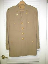 WWII US ARMY OFFICER'S KHAKI UNIFORM JACKET W/2ND LT. BARS & TRANS. CORPS NAMED