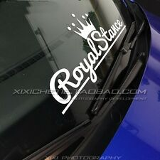 Royal stance Racing Sport Car Window Windowshield Sticker Decal Vinyl 57*18.5cm