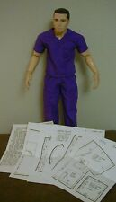 "Scrubs Pattern For 22"" Men Of Honor Dolls/Figures"