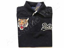 New Ralph Lauren Polo Custom Fit 100% Cotton Black Tiger Logo Shirt SLIM sz M