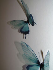4 Duck Egg Blue in Flight 3D Butterflies Wall Mounted Butterfly Art Accessories
