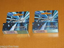 OPTREX EYEDEW SPARKLING CLEAR EYE DROPS X 2 NEW/BOXED 10ml