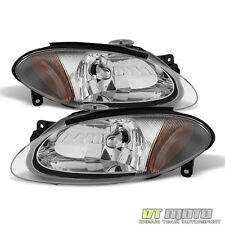 1998-2003 Ford Escort Zx2 Coupe Headlights Headlamps Replacement Pair Left+Right