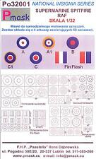 Model Maker 1/32 SUPERMARINE SPITFIRE INSIGNIA Roundels Fin Flashes Paint Masks