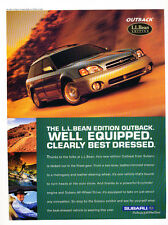 2001 Subaru Outback LL Bean Edition - Original Advertisement Car Print Ad J309