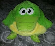 "TUMMY STUFFERS green ALLIGATOR CROCODILE TOY PAJAMAS CARRIER PILLOW 13"" plush"
