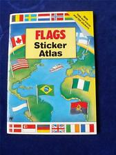 FLAGS STICKER ATLAS BOOK 1991 MAP OF THE WORLD
