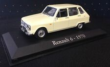 VOITURE MINIATURE DE COLLECTION 1/43 RENAULT 6 de 1970 - R6 NOREV