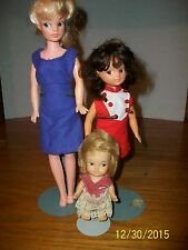 Vintage Lot of Three Hong Kong Dolls With Ideal Tammy Clone doll Side Glancing