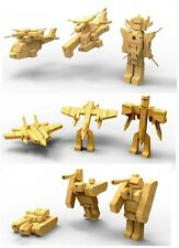 Awesome! 3 pk Fighter Jet & Black Hawk Helicopter & Tank Wooden Transformers