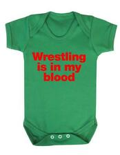 "Baby Grow ""Wrestling is in my blood "" Wrestling baby, Baby Play suit / Bodysuit"