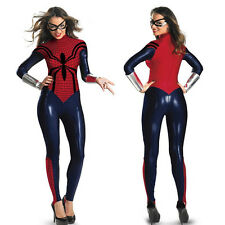 New Spider Women Cosplay Costume Party Sexy Zentai Suit Anime Superhero Jumpsuit