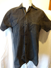 Molto raro vintage originale dei Metallica Band Shirt. Nero Camicia Button-down, piccola.