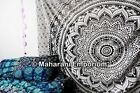 Black & White Ombre Mandala Tapestry Hippie Indian Wall Hanging Bedspread Throw