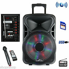 beFree Sound 15 Inch Bluetooth Rechargeable Party Speaker With Illuminatiing Lig