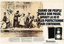 Publicité Advertising 1980 (2 pages ) Materiel Hi-Fi Enceintes Technics