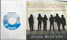 HUEY LEWIS & THE NEWS 45 * Stuck With You * 1986 * UNPLAYED MINT ! * USA with PS