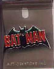 Batman Silver Age Comic Book Logo Metal Enamel Pin 1988, NEW UNUSED