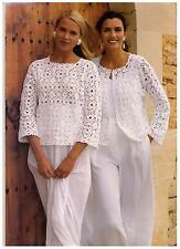 EASY  Crochet Pattern Ladies Summer Tops  4 Variations  Cotton 4 ply  free post