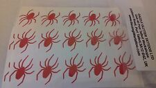 40 x red Spider mini stickers  gothic scary funny creepy spiders Halloween