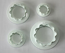 Round and Wavy Edged Cutters, 4 Cutters in Pack, Sugarcraft Cake Decorating