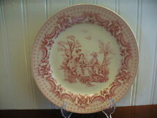 Small I Godinger Co Porcelain Victorian Courtiers in a Garden Motif Accent Plate