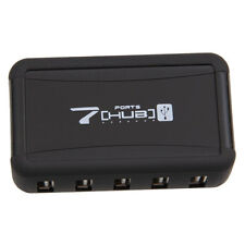 New HIGH-SPEED USB 7-PORT HUB POWERED +AC ADAPTER CABLE