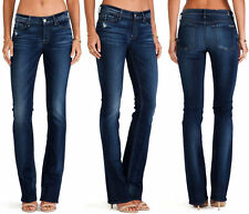 $198 NWT WOMEN'S 7 SEVEN FOR ALL MANKIND JEANS THE SKINNY BOOT MONARQ BLUE SZ 30