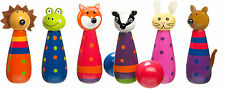 Orange Tree Toys WOODLAND FRIENDS SKITTLES Baby/Toddler/Child Wooden Toys BN