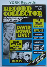 RECORD COLLECTOR MAGAZINE - Issue 109 September 1988 - Bowie / Dylan / Bros