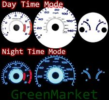 98-02 Honda Accord MT WHITE FACE BLUE INDIGLO GLOW GAUGES