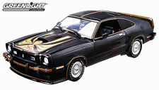 GREENLIGHT 1978 FORD MUSTANG II KING COBRA BLACK W/T TOPS 1/18 DIECAST CAR 12878