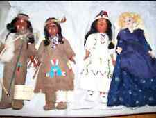 Lot 4 Carlson Deerfoot Brown Eagle Indian Dolls Girl/Papoose/Fish Boy Bow/Arrow