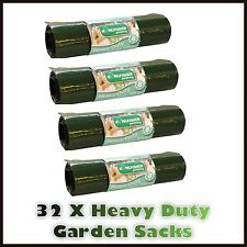 32 X LARGE 75L HEAVY DUTY GARDEN SACKS WASTE REFUSE RUBBISH BIN BAGS GARDENING