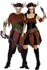 Couples Ladies AND Mens Viking Historical Halloween Fancy Dress Costumes Outfits