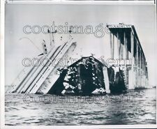 1964 Esso Maracaibo Supertanker Urdaneta Bridge Crash Collapse VE Press Photo