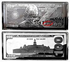 *GIFT/INVEST 1-4oz Dated-2016 Silver Proof Ben Franklin$100 BILL BAR+AT HLDR+COA