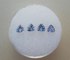 4 Tanzanite Trillion Gems 4mm each