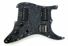 Seymour Duncan P-Rails HH Loaded Strat Pickguard Black Pearl / Black