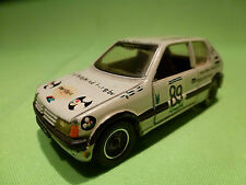 SOLIDO 1:43 PEUGEOT 205 GTI - VD BERG KABELSYSTEMEN 89 - RARE - FAIR CONDITION
