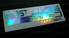 200mm (20cm) Boost Charging Sticker Hologram Chrome JDM DUB EURO SCENE VAG VW