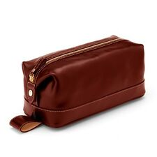 Aspinal of London Mens Leather Washbag in Smooth Cognac. RRP £150.