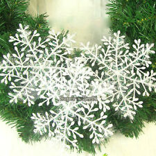 HOT Sale White Snowflake Ornaments Festival Christmas Home Decor Christmas 30pcs