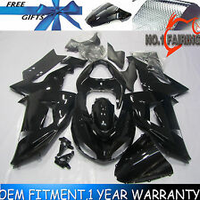 Glossy Black Fairing Kit BodyWork for KAWASAKI NINJA ZX-10R 2006-2007 Molded ABS