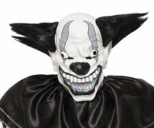 Scary Clown Mask Wide Smile Black Hair ICP Evil Adult Creepy Halloween Costume