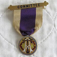 25mm ENAMELLED MEDAL WITH COMMITTEE BAR AND RIBBON